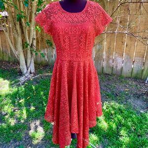 Anthro Burnt Orange Fairy Dress
